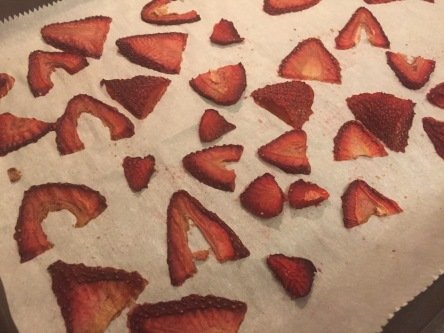 Dried strawberries.