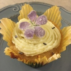 Turn April showers into May flowers with these honey-lavender cupcakes with candied geraniums