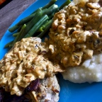 When you want comfort food, try these pork chops with bacon-mushroom pan gravy